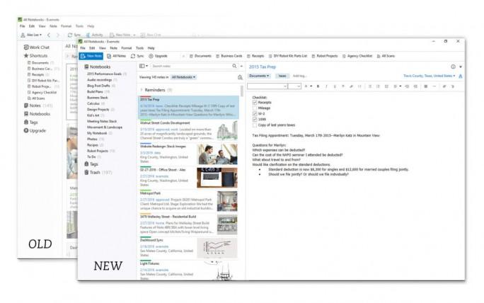 evernote-windows-seitenleiste-vergleich (Bild: Evernote)