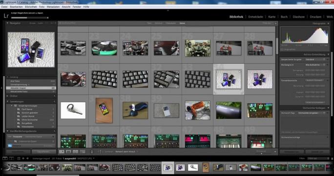 Adobe Lightroom verbindet eine leistungsfähige Bildverwaltung mit ausgereiften Bearbeitungsfunktionen (Screenshot: Mehmet Toprak)