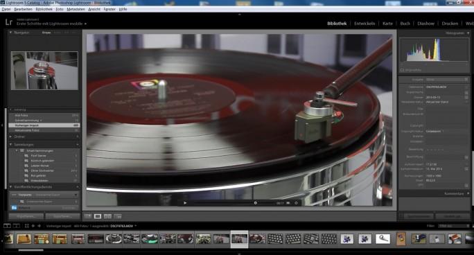 Inzwischen schon Standard: Programme wie Adobe Lightroom geben auch Videos wieder. (Screenshot: Mehmet Toprak)