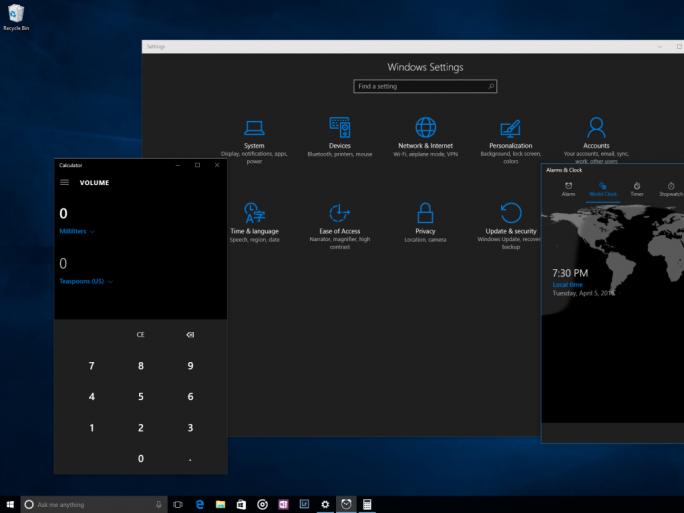 windows-10-dunkler-modus (Bild: Microsoft)