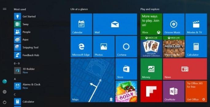 Vorgeschlagenes Startmenü für das sogennnate Windows 10 Anniversary Update (Bild: Microsoft)