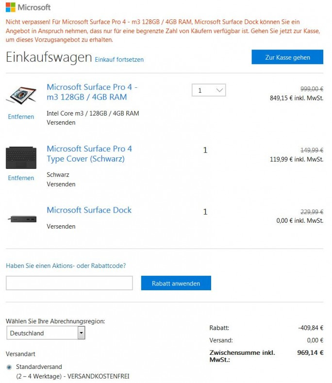 Surface_Pro_4_Rabatt_Insider (Screenshot: ZDNet.de)