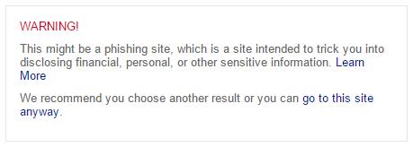 Bing warnt künftig ausführlicher vor Phishing- und Malware-Seiten (Bild: Microsoft).