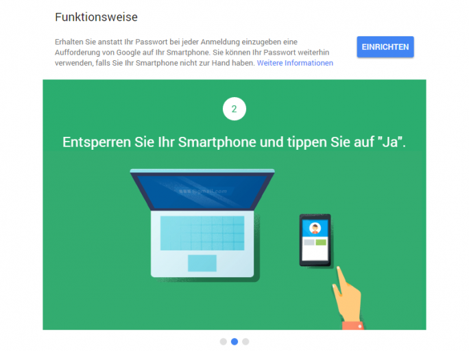 Google Prompt (Screenshot: ITespresso.de