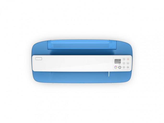 Das All-in-One-Gerät HP Deskjet 3720 ist zunächst in Blau erhältlich. Im September folgen die Farbvarianten Grün und Grau (Bild: HP).