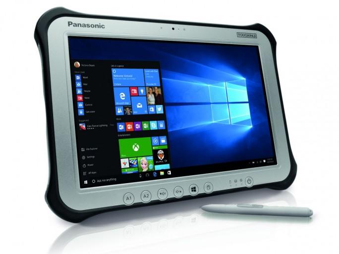 Die vierte Generation des Toughpad FZ-G1 kommt mit Intel-Skylake-CPU, verlängerter Akkulaufzeit, 802.11ac-WLAN und Windows 10 Pro (Bild: Panasonic).