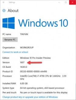 windows-10-version-1607 (Screenshot: ZDNet.com)