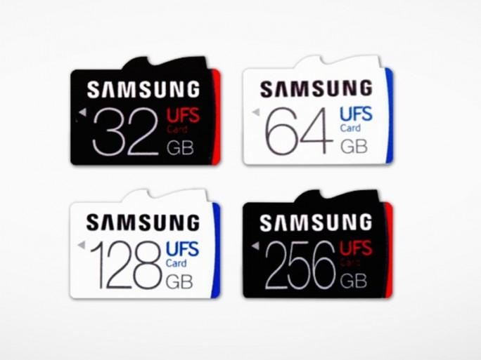 Samsung-UFS-Speicherkarten (Bild: Samsung)