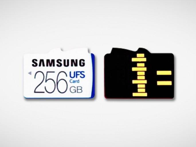 Die UFS-Speicherkarten sind nicht pinkompatibel zu MicroSD-Cards (Bild: Samsung)