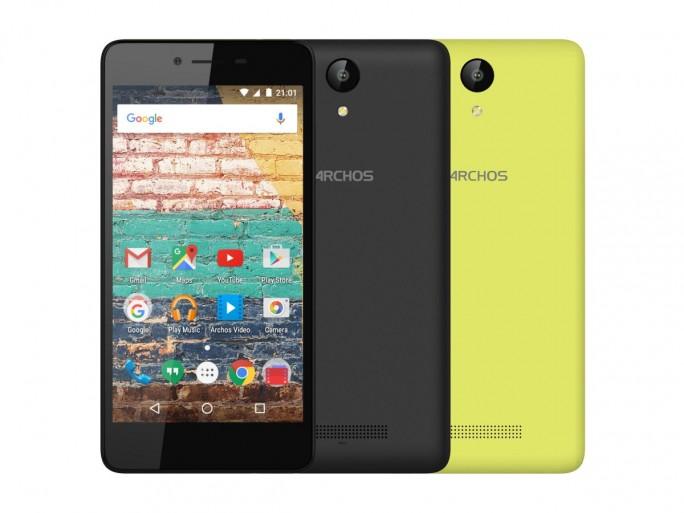 Das Archos 50e Neon ist ab sofort für 79,99 Euro erhältlich (Bild: Archos).