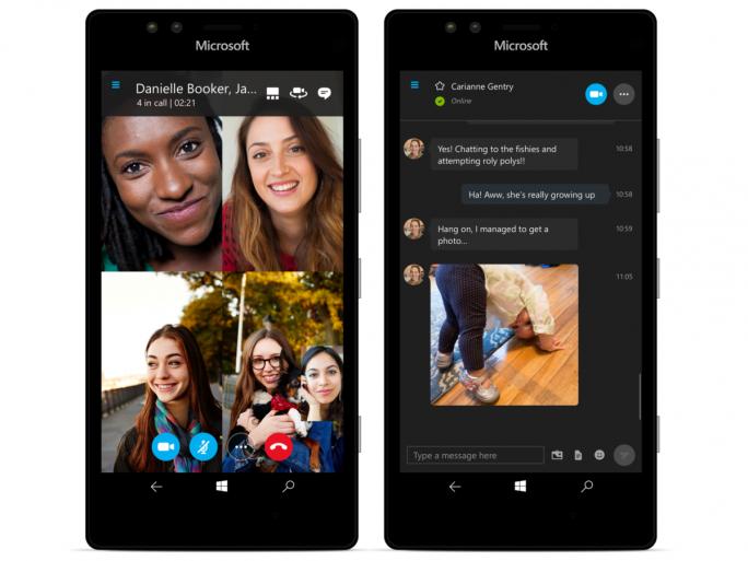 Die neue UWP-Version der Skype-App für Windows 10 Mobile bringt Unterstützung für Videoanrufe mit (Bild: Microsoft).