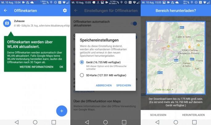 Google Maps 9.34.1 für Android (Bild: ZDNet.de)