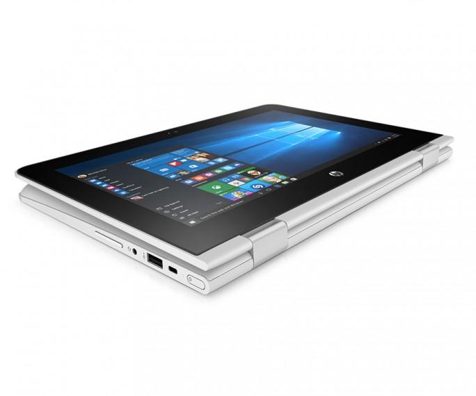 Das HP Stream 11×360 bietet einen Touchscreen und kann komplett umgeklappt und dann wie ein Tablet verwendet werden (Bild: HP Inc)