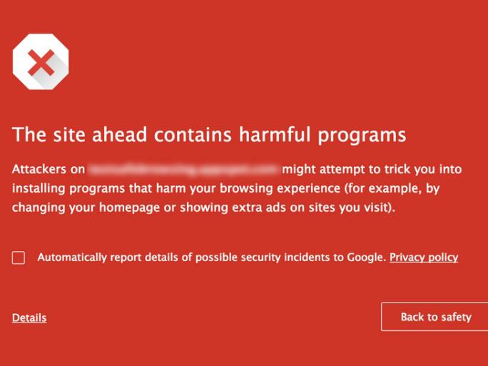 Google Safe Browsing (Bild: Google)