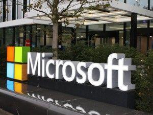 Microsoft-Eingang (Bild: silicon.de)