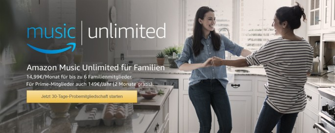 Amazon Music Unlimited Family (Screen:ZDNet.de)