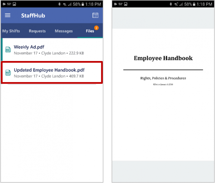 Staffhub Mitarbeiterinfo (Bild: Microsoft)