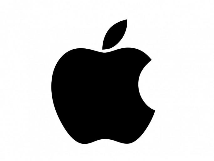 Apple-Logo schwarz