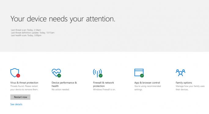 Microsoft Windows Defender Security Center (Bild: Muicrosoft)