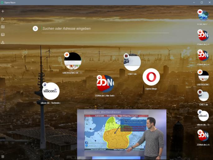 Opera Neon (Screenshot: ZDNet.de)