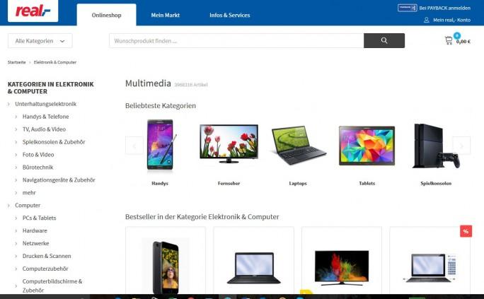 Real-Online-Marktplatz (Screenshot: ITespresso.de)