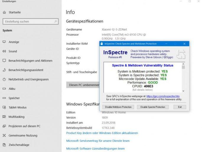 Windows 10 1809: KB4482887 integriert Reptoline-Code (Bild: ZDNet.de)