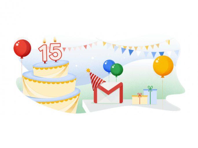 Gmail wird 15 (Bild: Google)