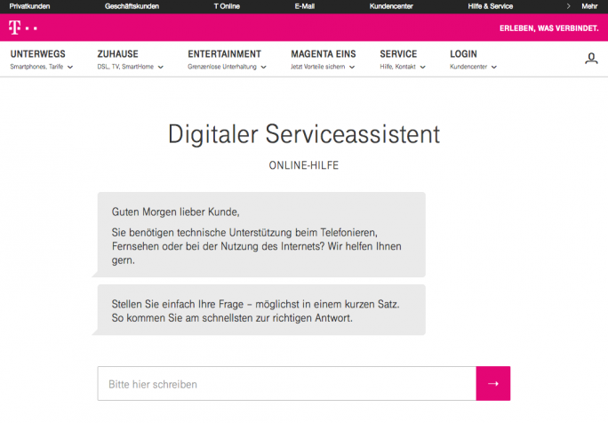 Digitaler Serviceassistent (Bild: Deutsche Telekom)